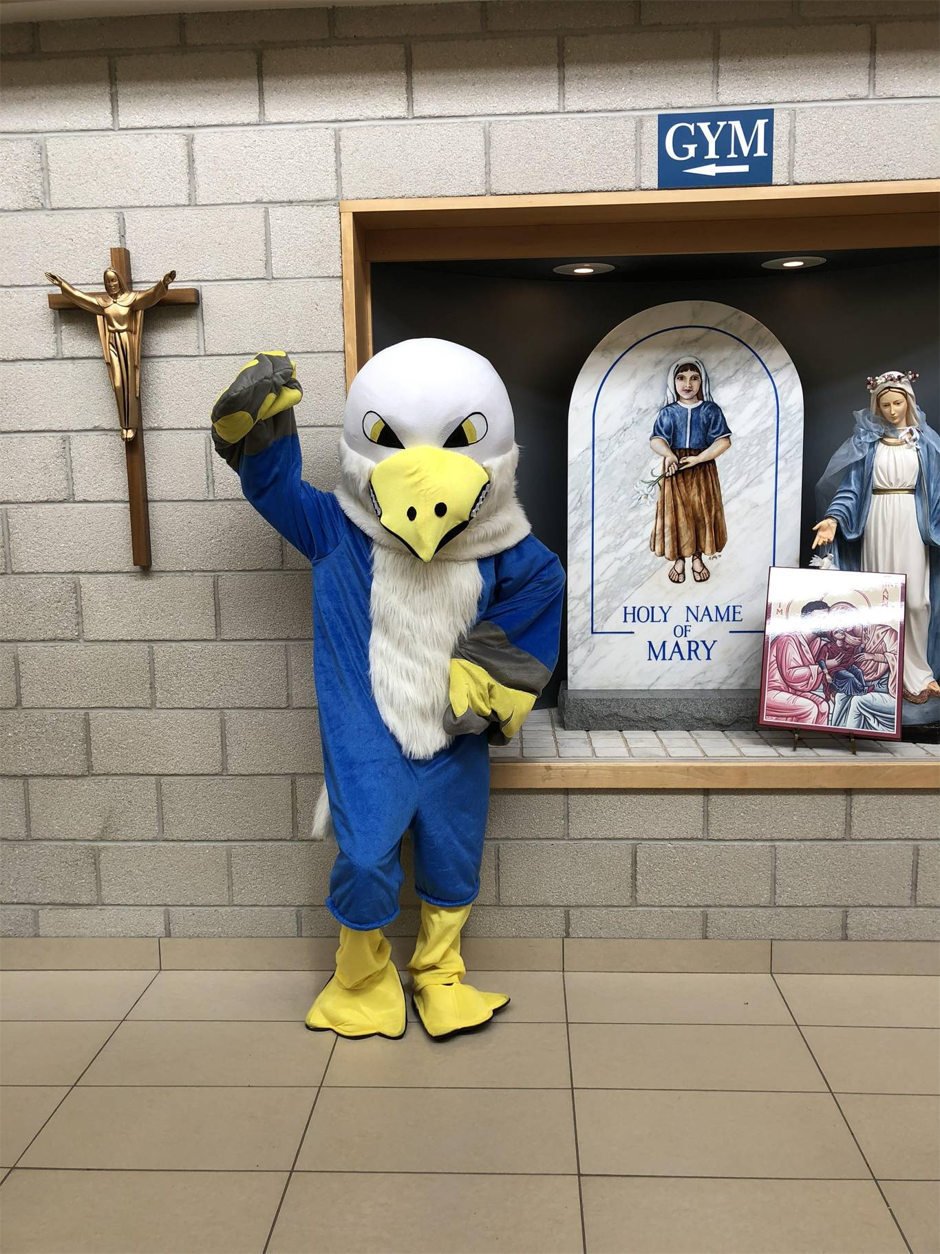 Eddie the Eagle: Holy Name of Mary Catholic Elementary School's Mascot